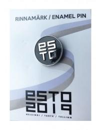Нагрудный значок ESTO с креплением «цанга-бабочка», цвет: чёрный