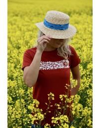 Женская футболка MUUSIKA (музыка), цвет: коричневый