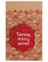 """Металлический значок с цанговым креплением """"Tants, minu arm!"""" (Танец, моя любовь), 45 мм, цвет: коричневый"""